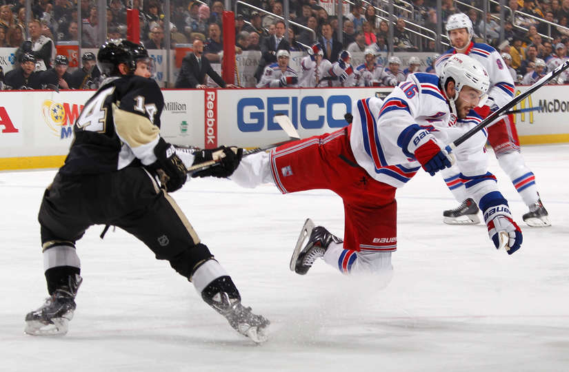 rangers vs penguins playoff history