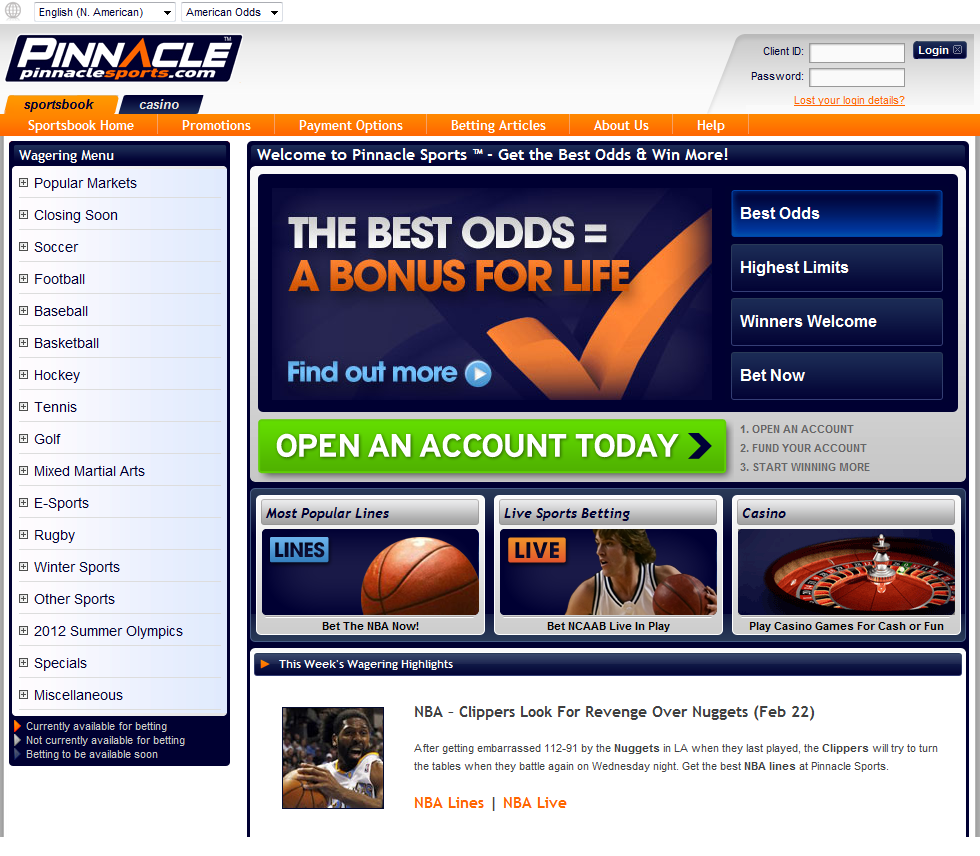 pinnacle sportsbook can sports